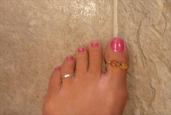 diy toe ring+