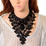 diy black color beautiful necklace