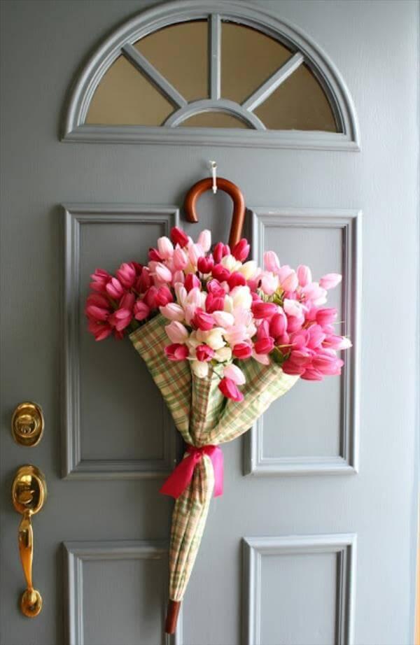 diy door flower