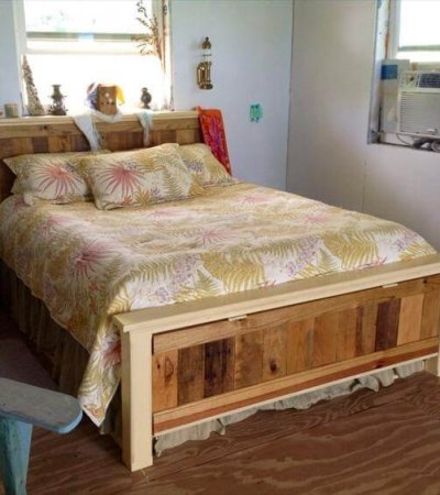 diy nice pallet bed