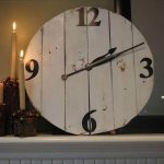 diy large wooden clock