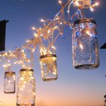 chic mason jar hanging lights