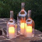 diy wrap bottles candels for decoration your home