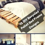 Recycled whole pallet bed frame ideas