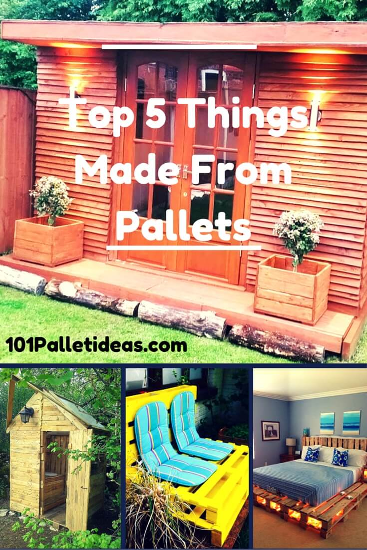 recycled pallet furniture and housing ideas