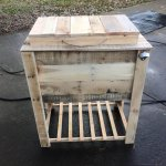 Reclaimed pallet outdoor cooler