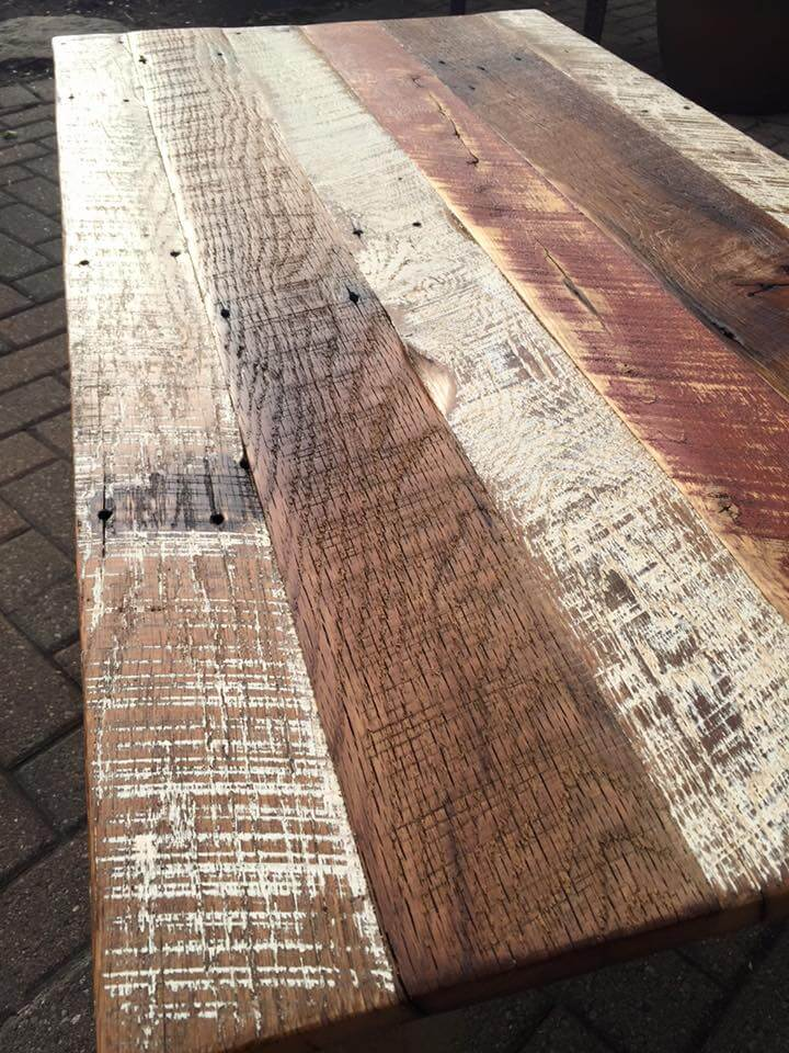 barn wood coffee table with weathered beauty