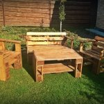 diy pallet outdoor furniture with coffee table