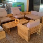 upcycled wooden pallet block style sitting set