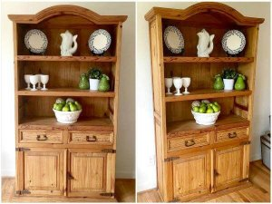 Recycled Pine Wood Kitchen Hutch