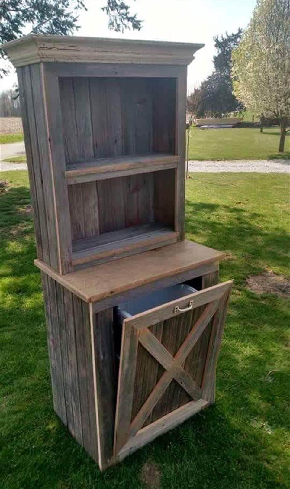 Wooden kitchen pantry