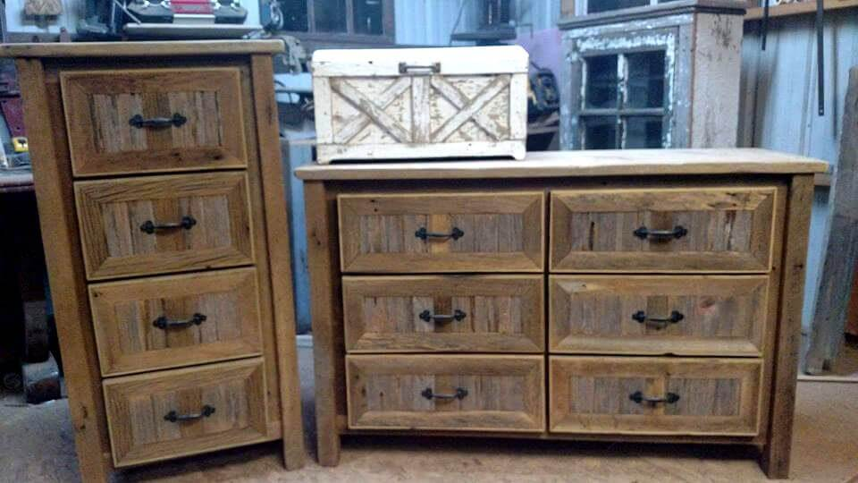 Handmade wooden chest of drawers