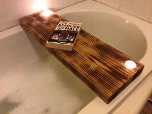 DIY Pallet Bath Board or Tray