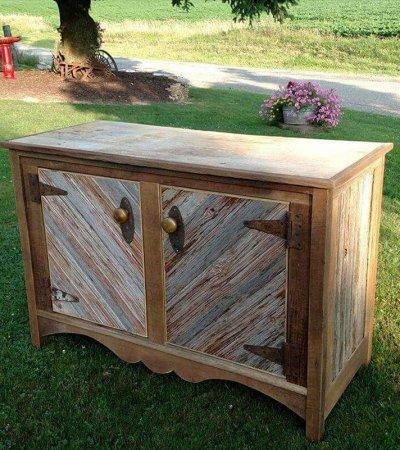 barn wood made kitchen cabinet