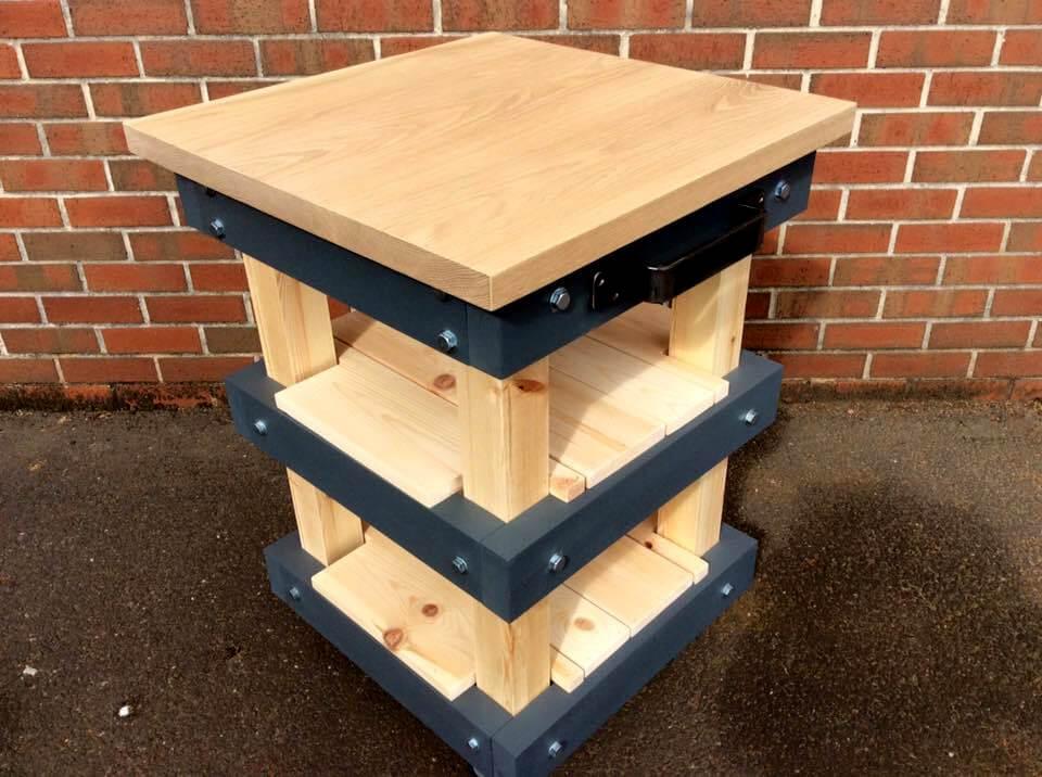 Solid Oak Top Pallet Butcher Block Style Kitchen Island Diy Crafts