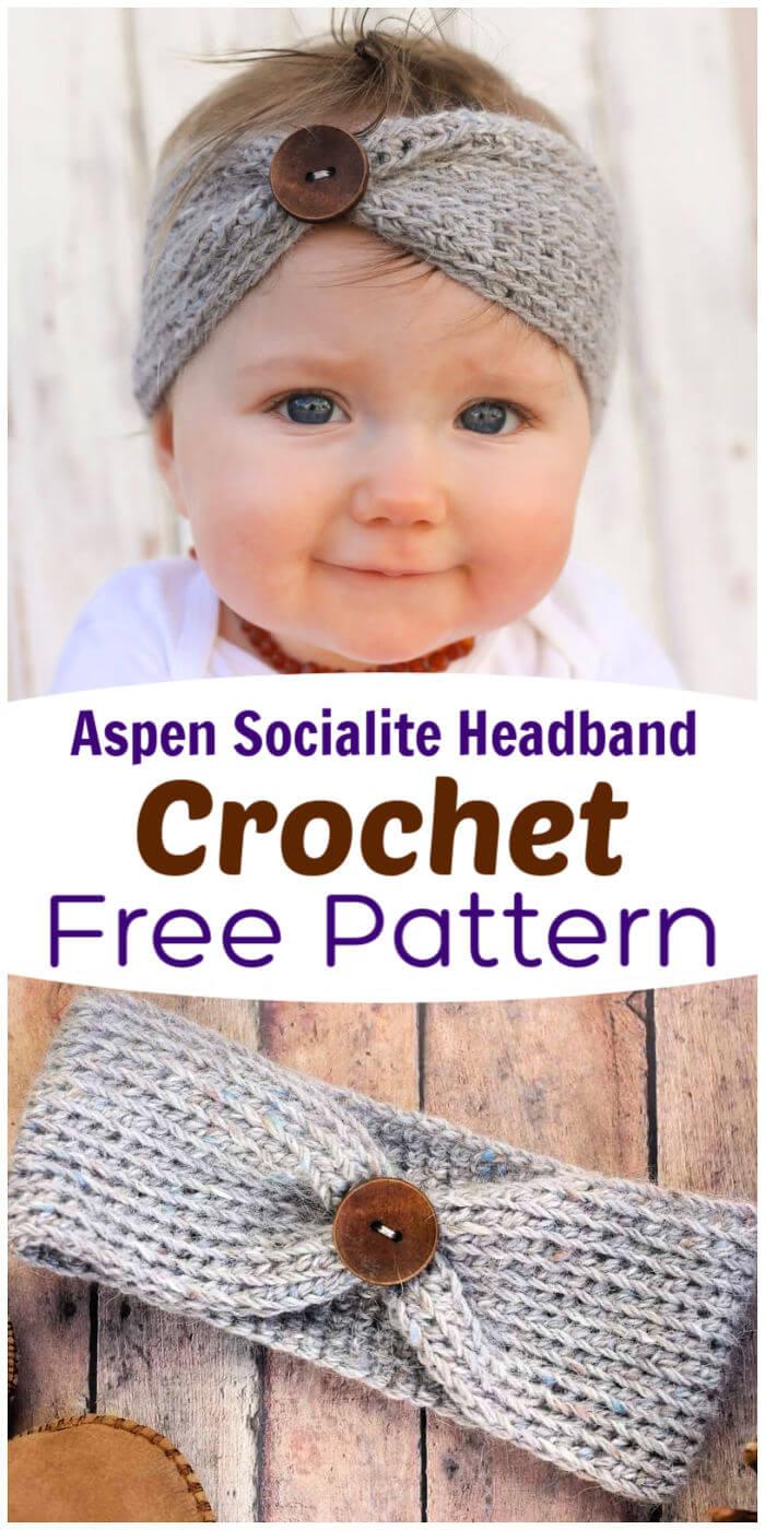 Crochet Aspen Socialite Headband Free Pattern 2