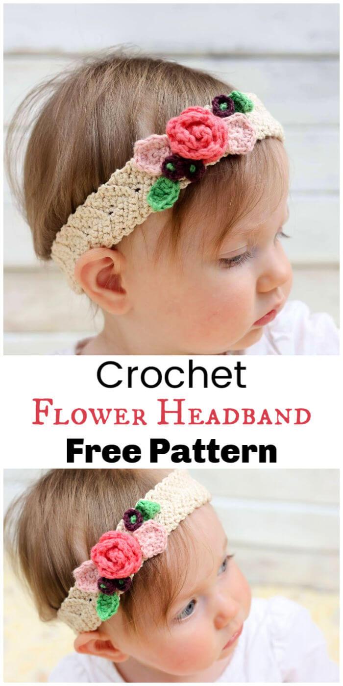 Crochet Flower Headband Free Pattern