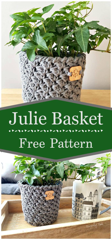 Crochet Julie Basket Free Pattern