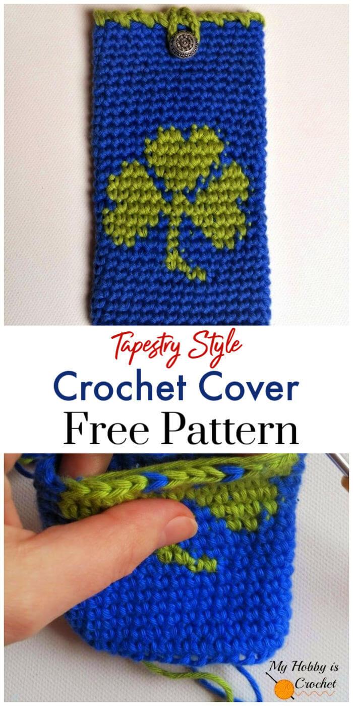 Crochet Shamrock Phone Cover – Free Pattern