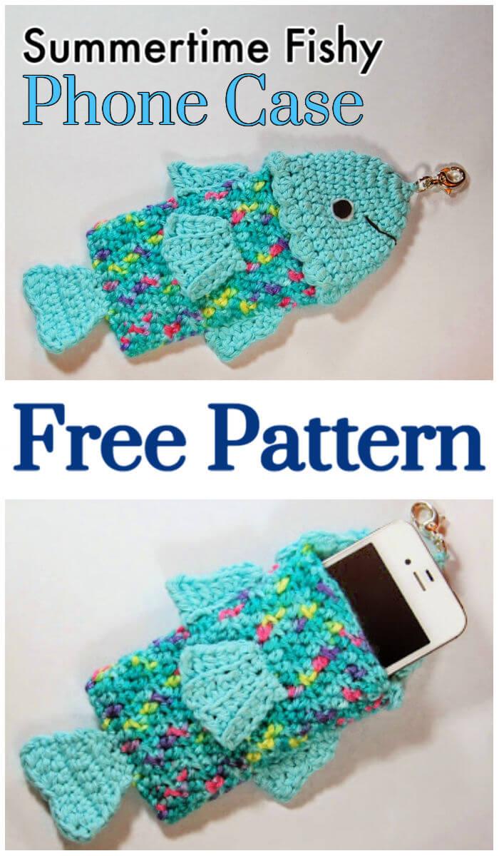 Crochet Summertime Fishy Phone Case – Free Pattern