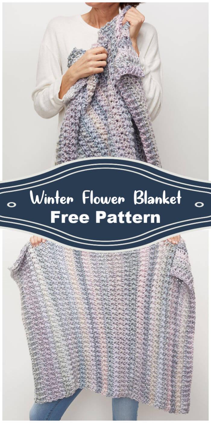 Crochet Winter Flower Blanket Free Pattern