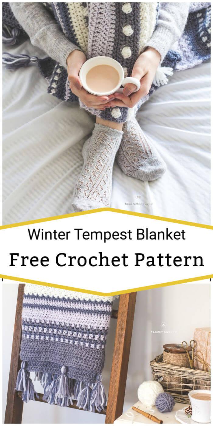 Crochet Winter Tempest Blanket