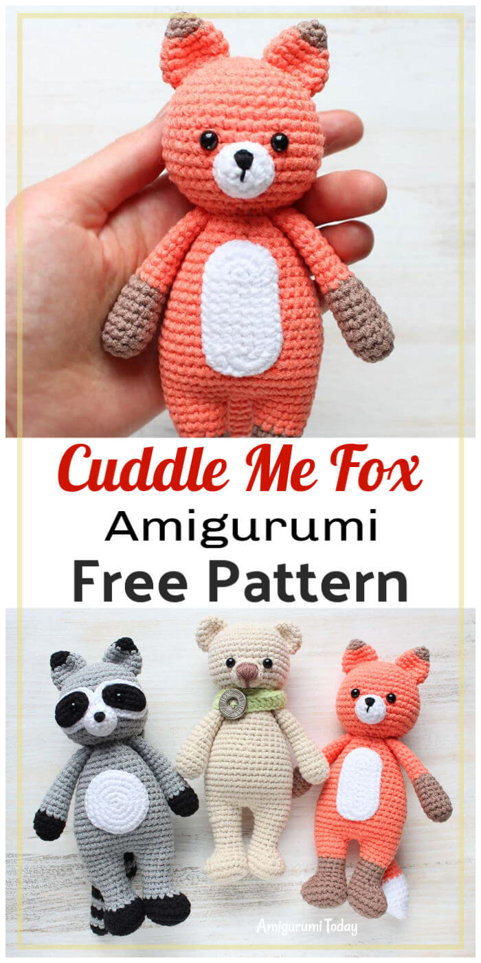 Cuddle Me Fox Amigurumi Free Crochet Pattern