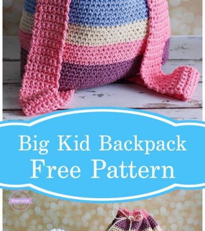 Free Crochet Aubrie's Big Kid Backpack Pattern