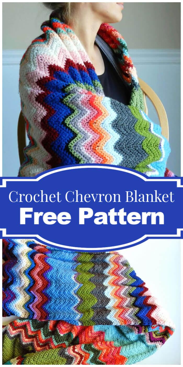 Free Crochet Chevron Blanket Pattern