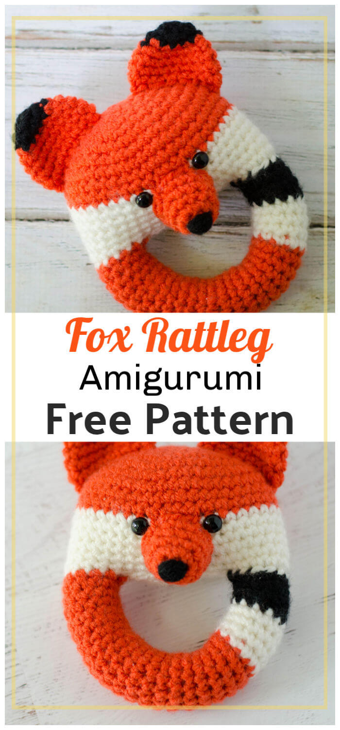 Free Crochet Fox Rattle Pattern
