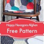 Free Crochet Happy Hexagons Afghan Pattern