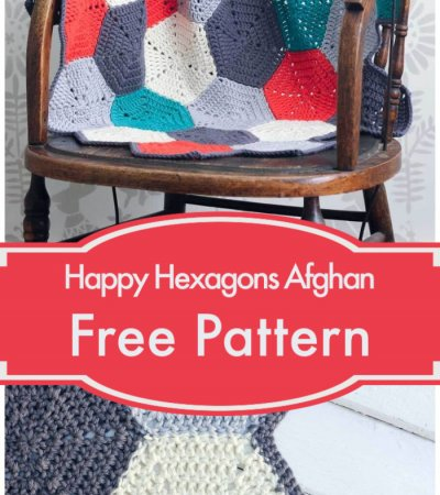Free Crochet Happy Hexagons Afghan Pattern