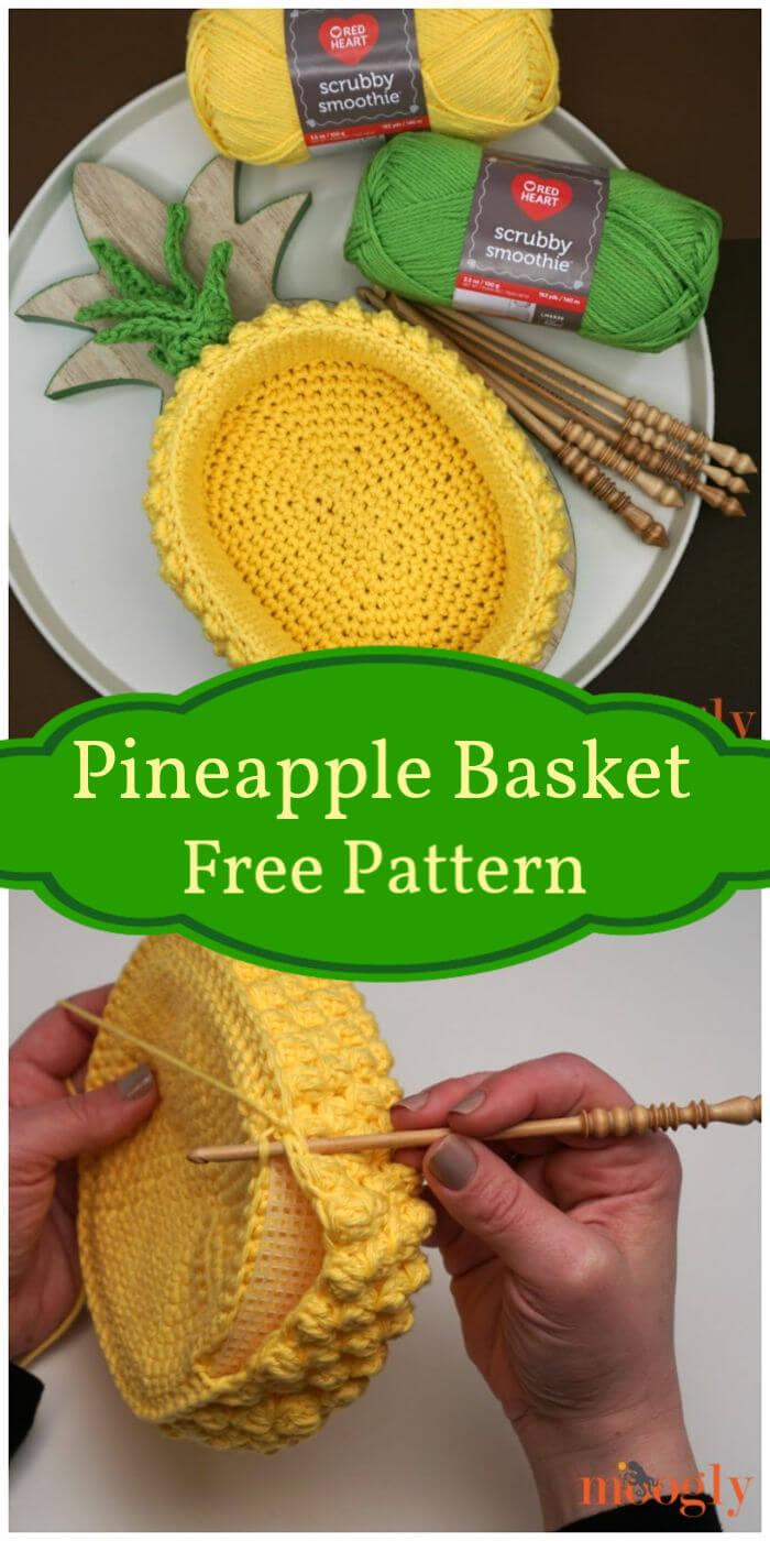 Free Crochet Pineapple Basket Pattern