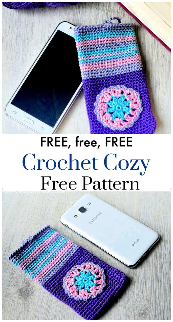 Free Crochet Secret Pearl Phone Cozy Pattern
