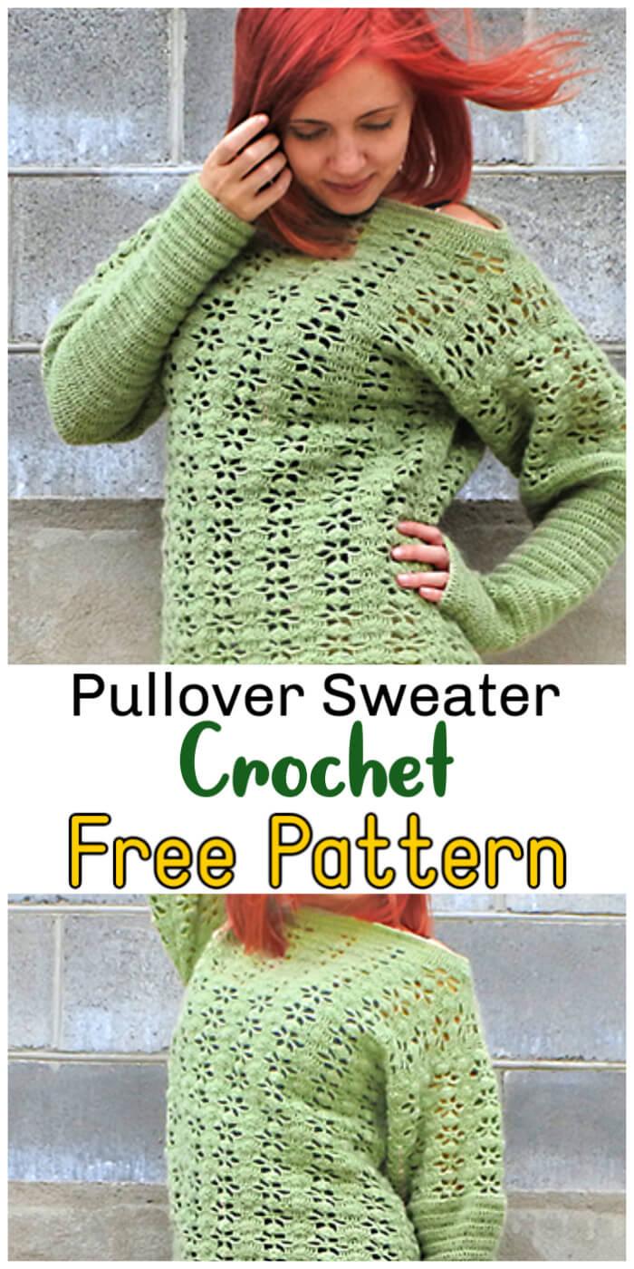 Free Crochet Sweater Pullover Pattern