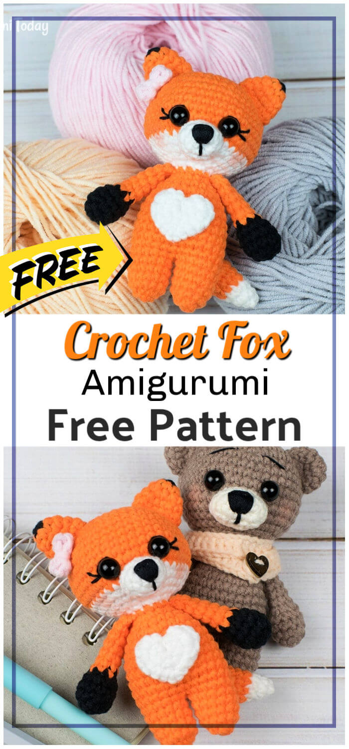 Free Crochet Tiny Fox Amigurumi Pattern