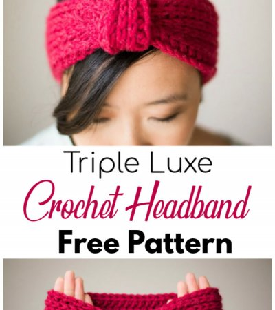 Free Crochet Triple Luxe Headband Pattern 2