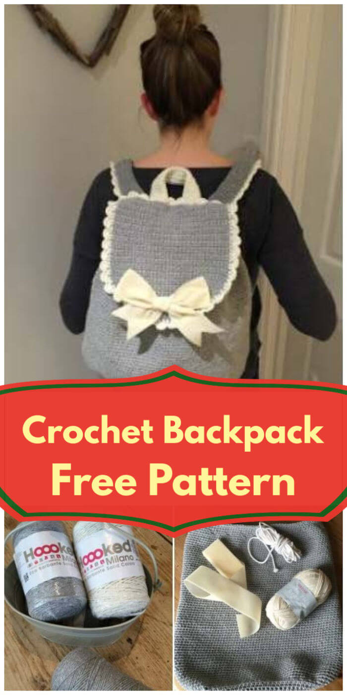 Gorgeous Crochet Backpack Free Pattern