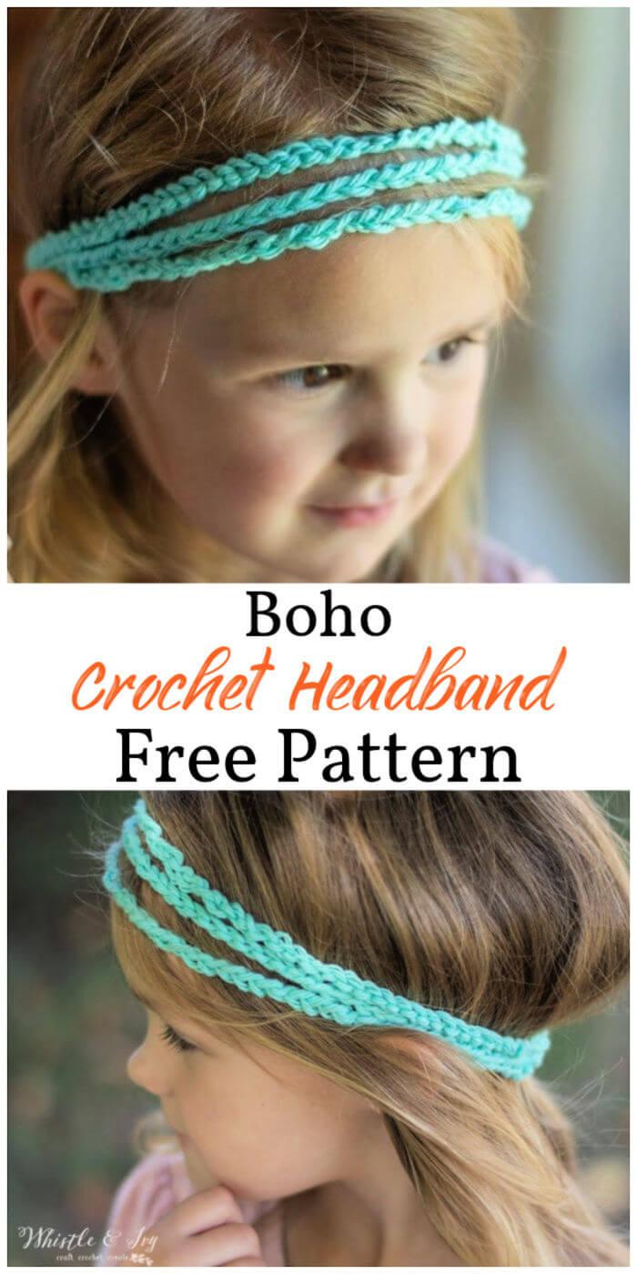How to Crochet Boho Headband 1