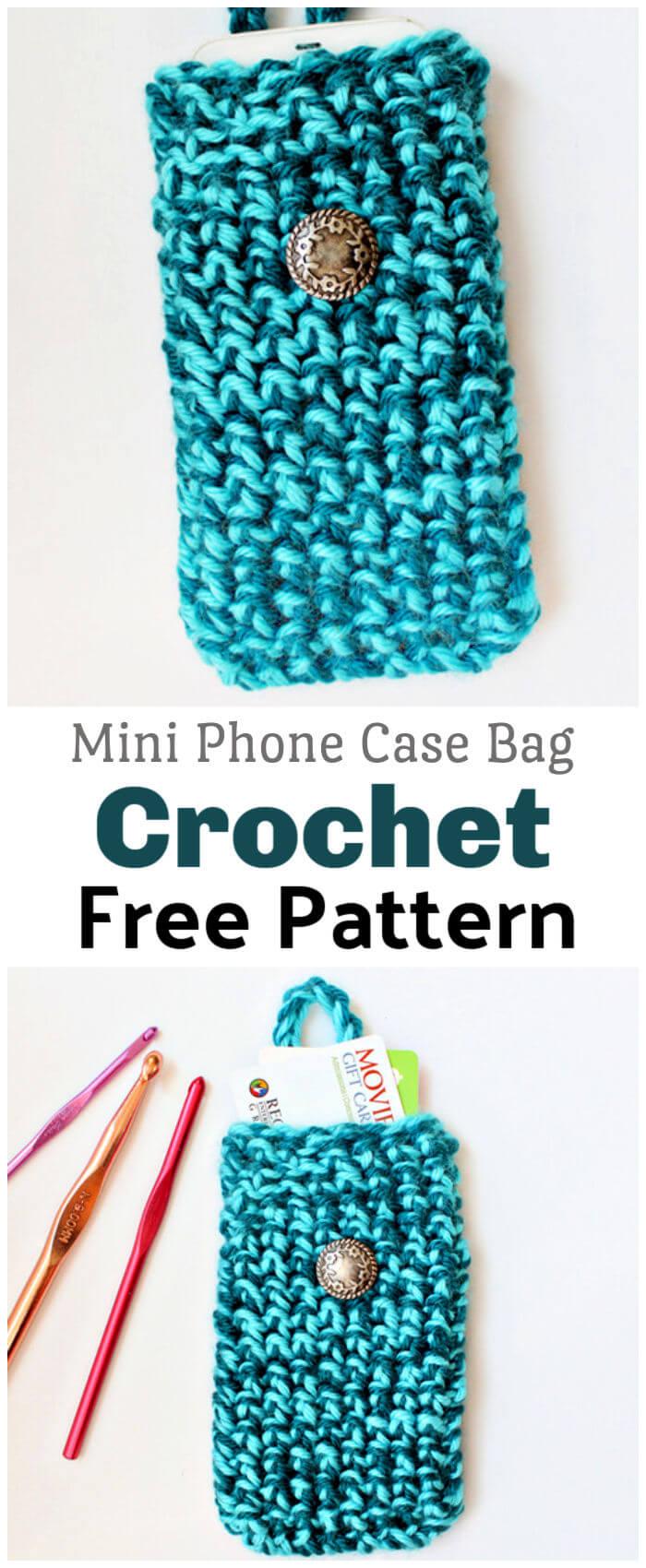 How to Crochet Mini Phone Bag