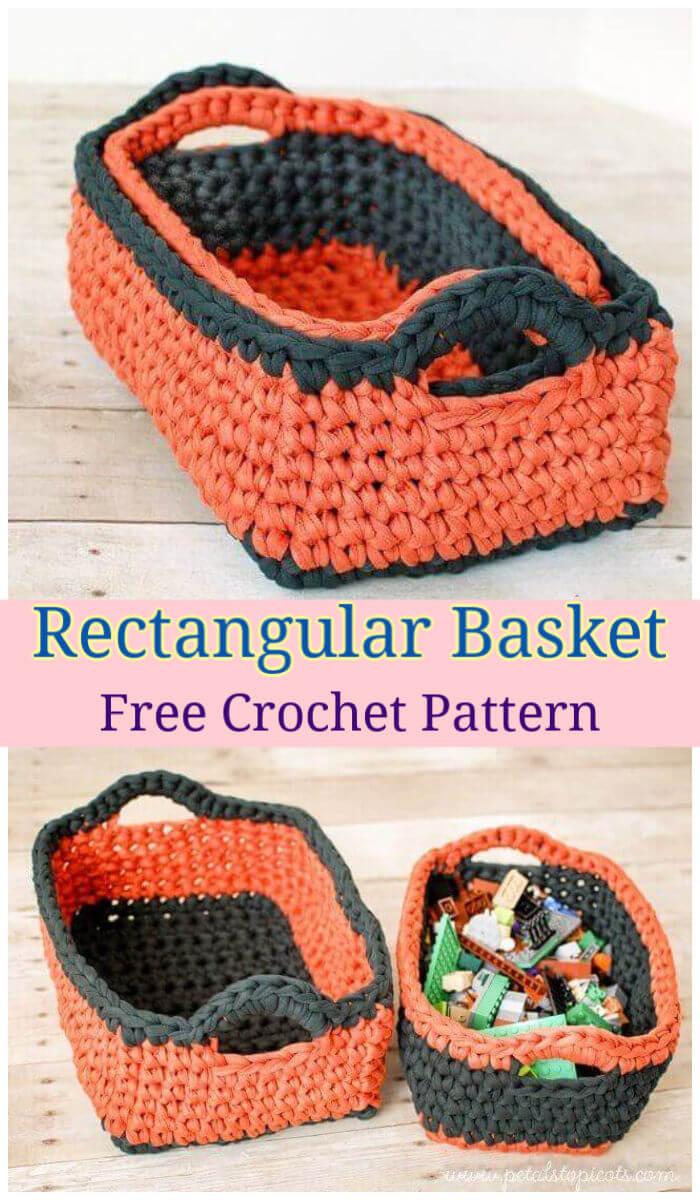 How to Crochet Rectangular Basket