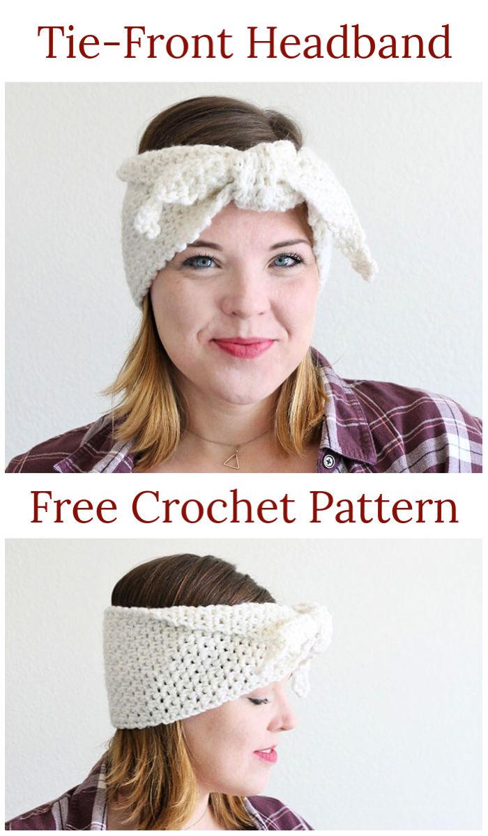 How to Crochet Tie Front Headband
