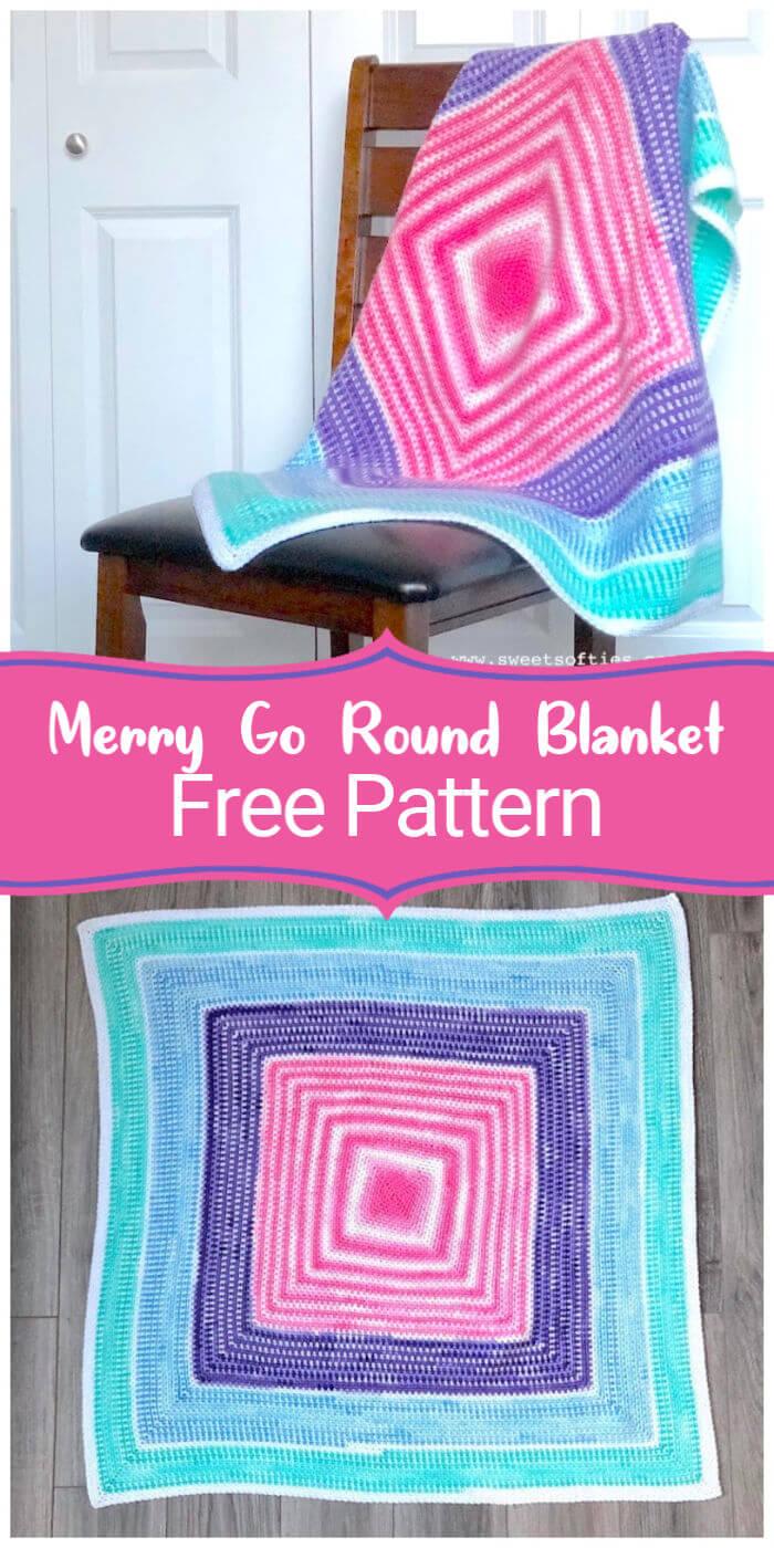 Merry Go Round Blanket Free Crochet Pattern