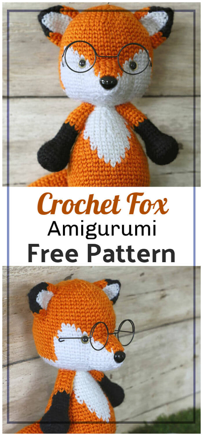 Mr. Furu The Fox Amigurumi Free Crochet Pattern