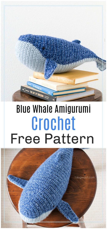 Crochet Blue Whale Amigurumi - Free Patterns - DIY 4 EVER | 1500x700
