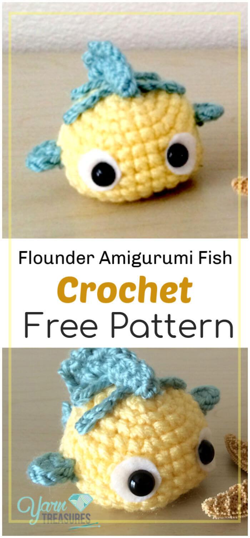 Crochet Flounder Amigurumi Fish Free Pattern