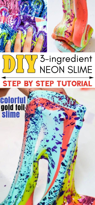 DIY 90s Neon Slime