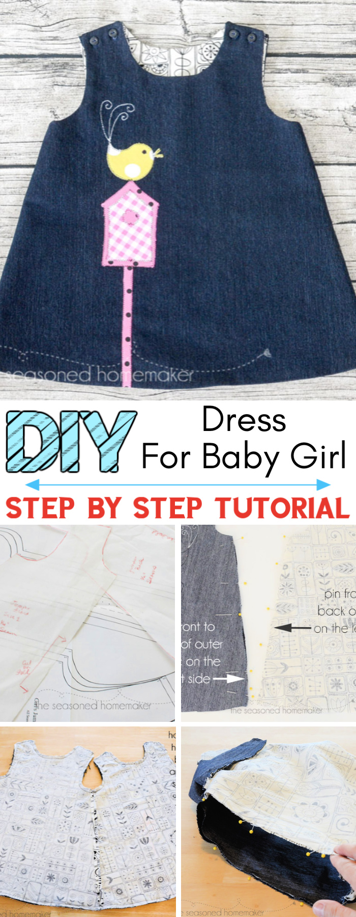 DIY A Line Dress for Baby Girl