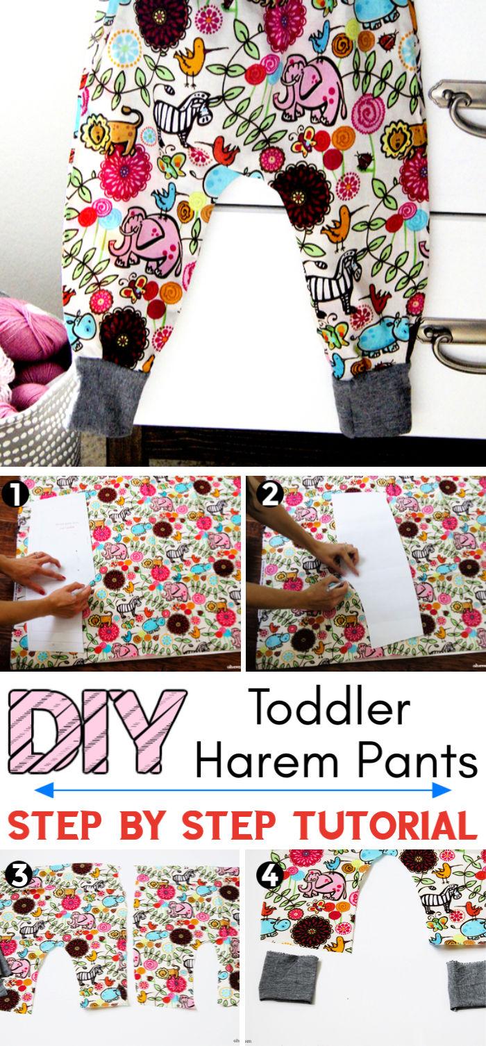 DIY Baby – Toddler Harem Pants