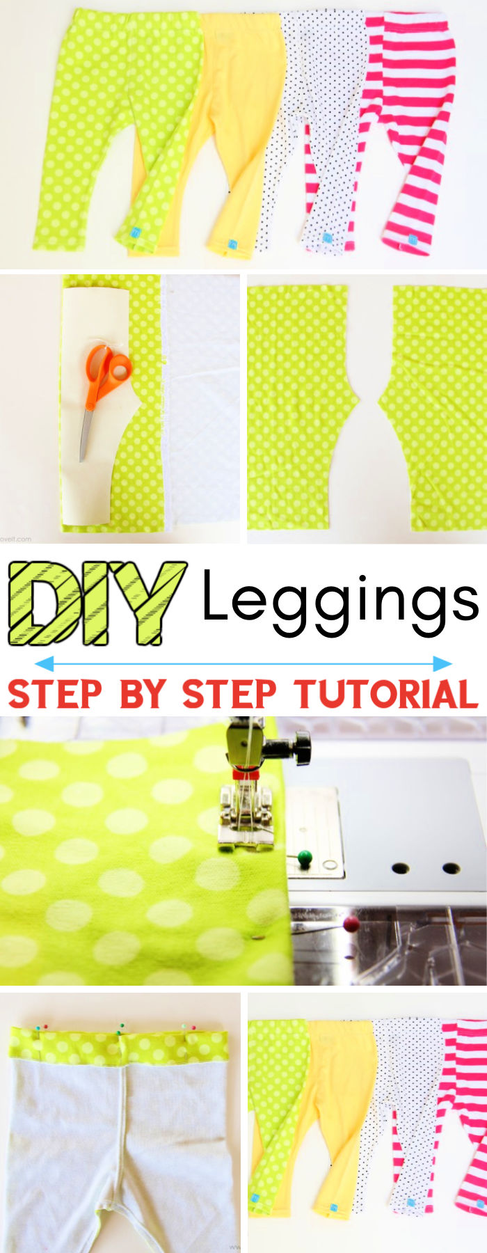 DIY Leggings Only 2 Fabric Pieces